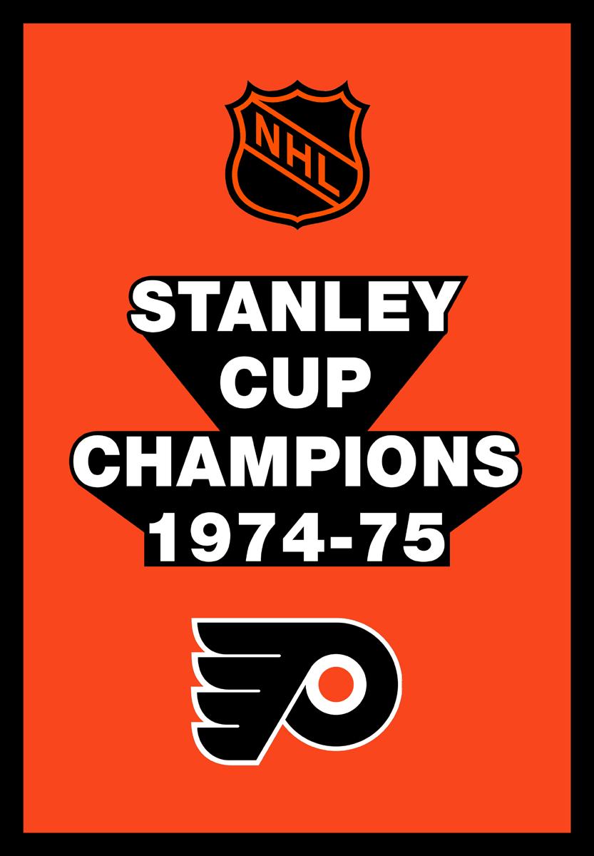 Philadelphia Flyers Championship Banner Championship Banner (1974/75) - Philadelphia Flyers 1975 Stanley Cup Champions Banner SportsLogos.Net
