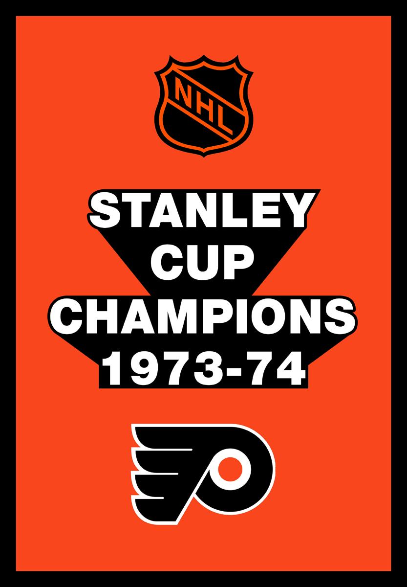 Philadelphia Flyers Championship Banner Championship Banner (1973/74) - Philadelphia Flyers 1974 Stanley Cup Champions Banner SportsLogos.Net