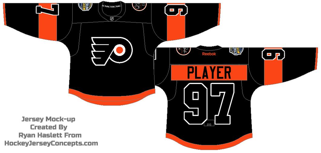 Philadelphia Flyers Uniform Special Event Uniform (2016/17) - 2017 NHL Stadium Series jersey SportsLogos.Net
