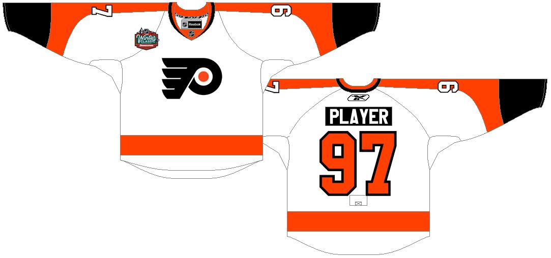 Philadelphia Flyers Uniform Special Event Uniform (2009/10) - Philadelphia Flyers 2010 NHL Winter Classic Uniform SportsLogos.Net