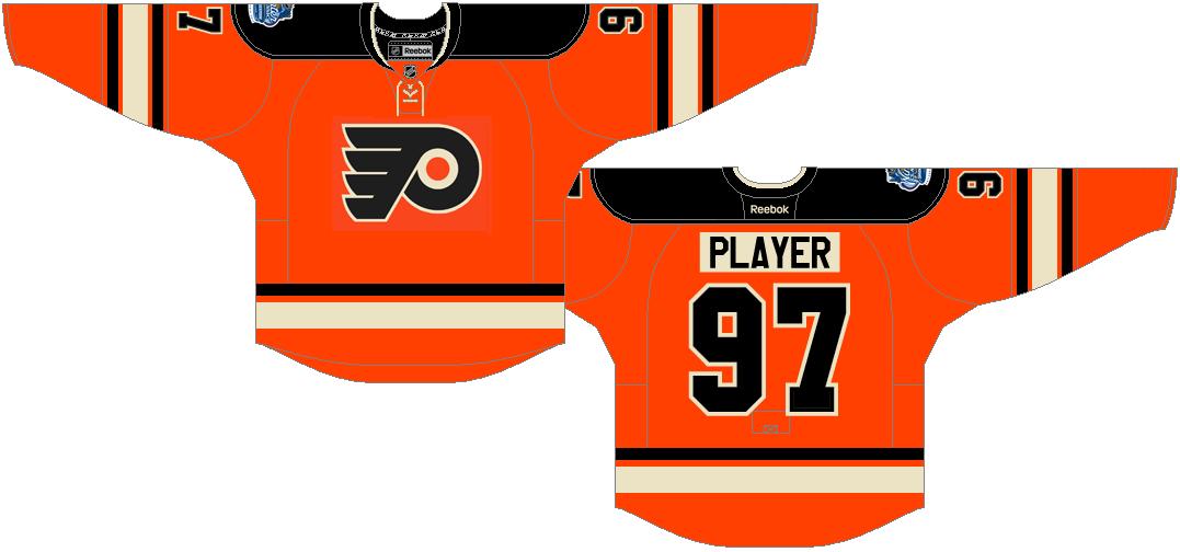 Philadelphia Flyers Uniform Special Event Uniform (2011/12) - Philadelphia Flyers 2012 NHL Winter Classic Uniform SportsLogos.Net
