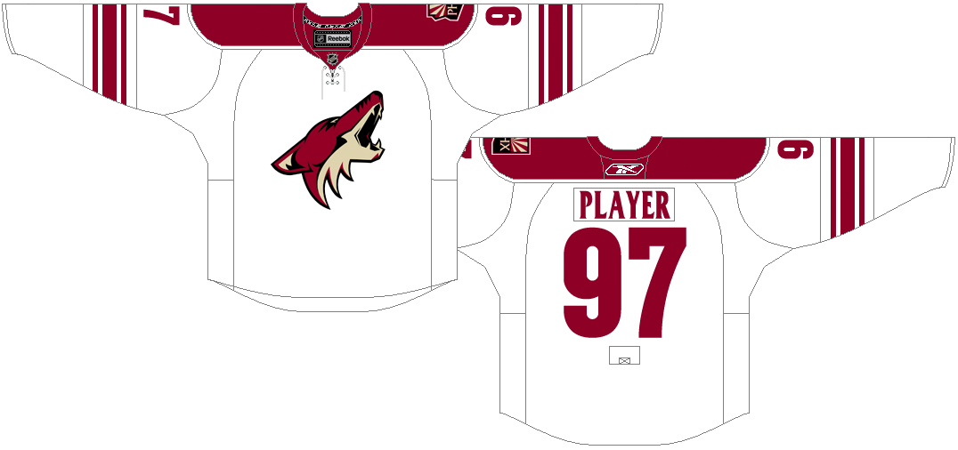 Phoenix Coyotes Uniform Light Uniform (2007/08-2013/14) -  SportsLogos.Net