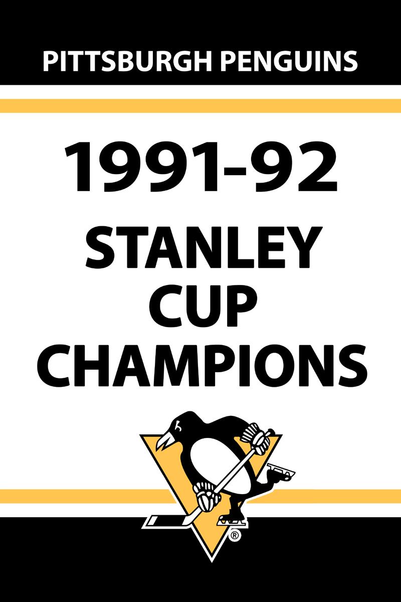 Pittsburgh Penguins Championship Banner Championship Banner (1991/92) - Pittsburgh Penguins 1992 Stanley Cup Champions Banner SportsLogos.Net