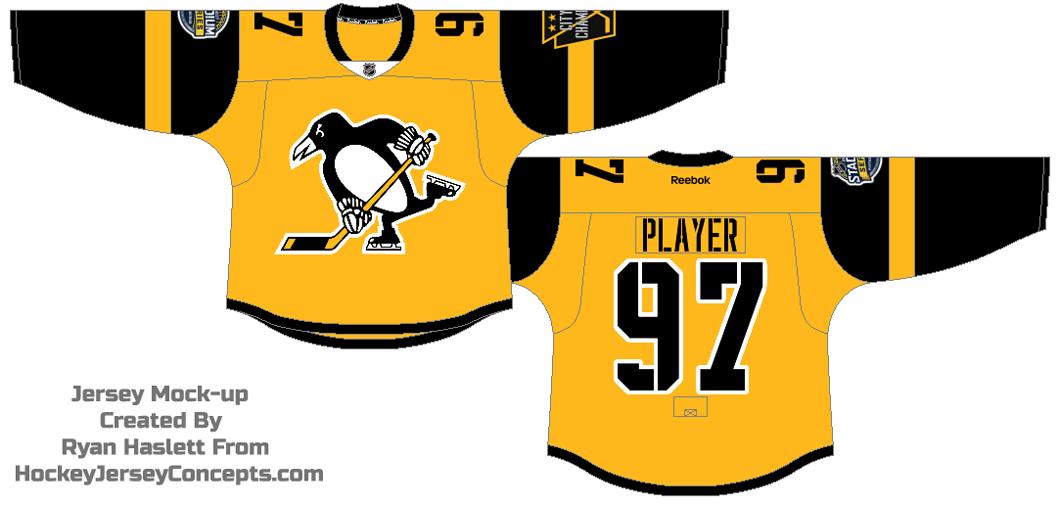 Pittsburgh Penguins Uniform Special Event Uniform (2016/17) - 2017 NHL Stadium Series jersey SportsLogos.Net