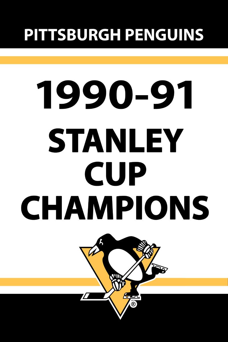 Pittsburgh Penguins Championship Banner Championship Banner (1990/91) - Pittsburgh Penguins 1991 Stanley Cup Champions Banner SportsLogos.Net