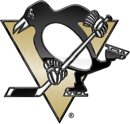 Pittsburgh Penguins Logo Special Event Logo (2013/14) - Penguins Stadium Series chrome treated logo SportsLogos.Net