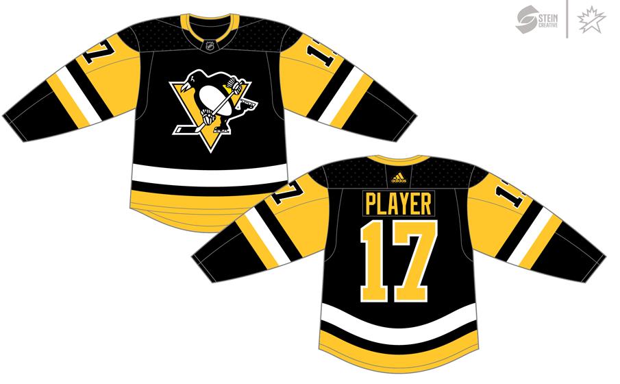 Pittsburgh Penguins Uniform Dark Uniform (2017/18-Pres) - Adidas Jersey SportsLogos.Net