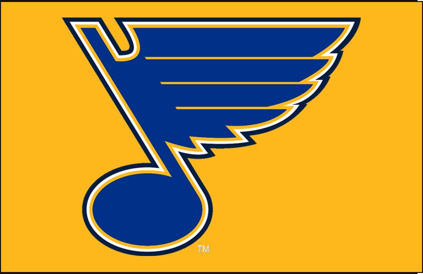 St. Louis Blues Logo Primary Dark Logo (2008/09-Pres) - St Louis Blues primary on yellow SportsLogos.Net