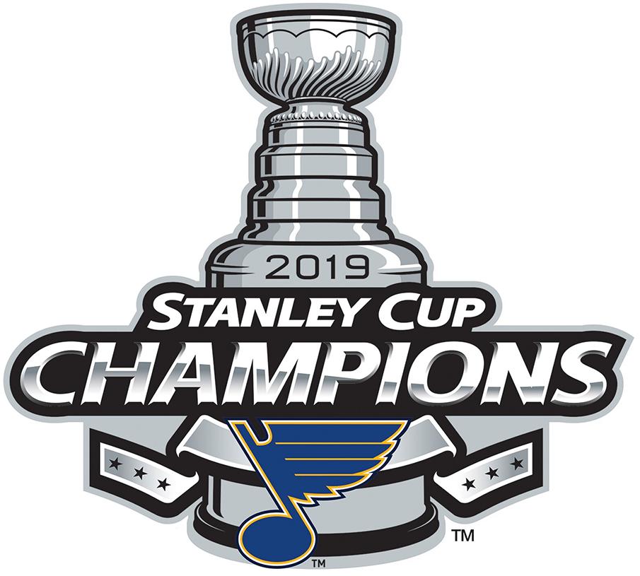 St. Louis Blues Logo Champion Logo (2018/19) - St Louis Blues 2019 Stanley Cup Champions Logo SportsLogos.Net
