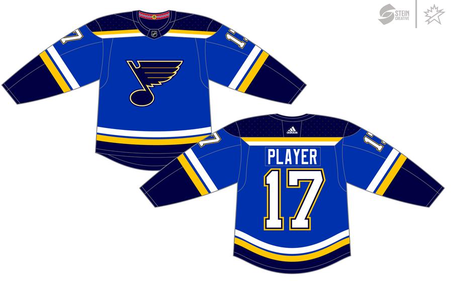 St. Louis Blues Uniform Dark Uniform (2017/18-Pres) - Adidas Jersey SportsLogos.Net