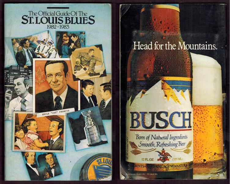 St. Louis Blues Media Guide Media Guide (1982/83) - 1982-83 St. Louis Blues media guide SportsLogos.Net