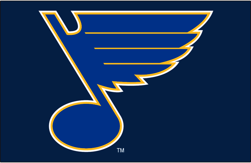 St. Louis Blues Logo Primary Dark Logo (2008/09-Pres) - St Louis Blues primary on dark blue SportsLogos.Net