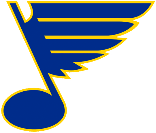St. Louis Blues Logo Primary Logo (1967/68-1977/78) - A bluenote with yellow outline SportsLogos.Net