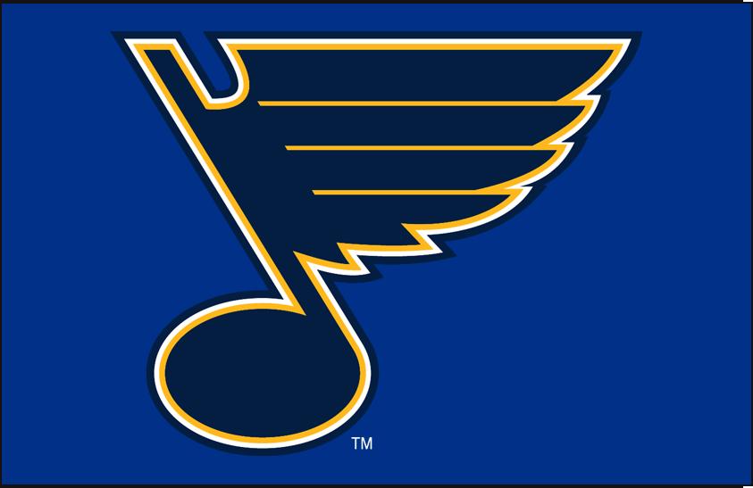 St. Louis Blues Logo Primary Dark Logo (2008/09-Pres) - St Louis Blues primary on light blue SportsLogos.Net
