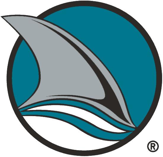 San Jose Sharks Logo Alternate Logo (1991/92-1997/98) - A Shark fin in a teal and black circle, shade of teal adjusted for 1998-99 season SportsLogos.Net