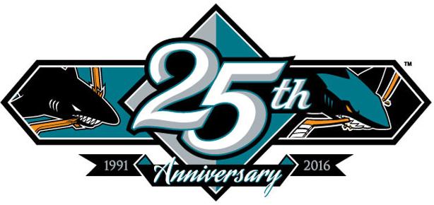 San Jose Sharks Logo Anniversary Logo (2015/16) -  SportsLogos.Net
