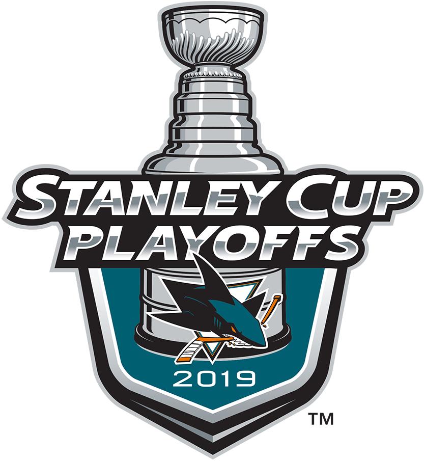San Jose Sharks Logo Event Logo (2018/19) - San Jose Sharks 2019 Stanley Cup Playoffs Logo SportsLogos.Net