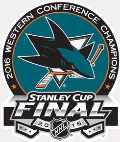 San Jose Sharks Logo Champion Logo (2015/16) - 2016 Western Conference Champions logo SportsLogos.Net