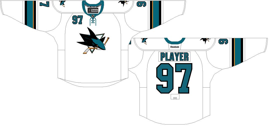 San Jose Sharks Uniform Light Uniform (2013/14-2016/17) -  SportsLogos.Net