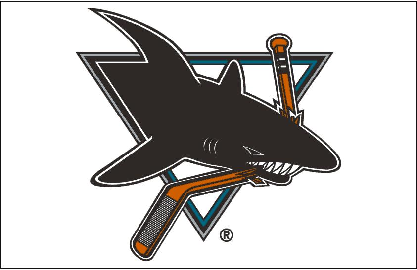 San Jose Sharks Logo Jersey Logo (1998/99-2006/07) - Worn on front of San Jose Sharks white jersey from 1998-99 until 2006-07 SportsLogos.Net