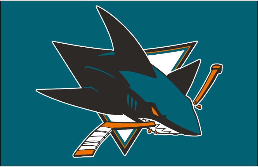 San Jose Sharks Logo Jersey Logo (2008/09-Pres) - Worn on front of San Jose Sharks home teal jersey since 2008-09 season SportsLogos.Net