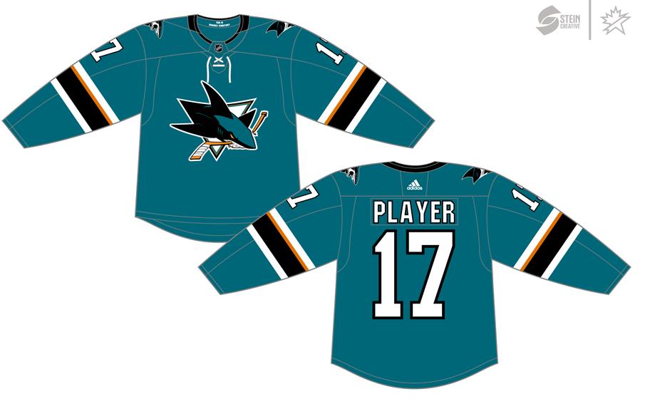 San Jose Sharks Uniform Dark Uniform (2017/18-Pres) - Adidas Jersey SportsLogos.Net