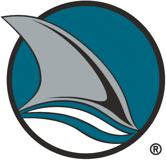 San Jose Sharks Logo Alternate Logo (1998/99-2006/07) - A Shark fin in a teal and black circle, shade of teal adjusted for 1998-99 season SportsLogos.Net