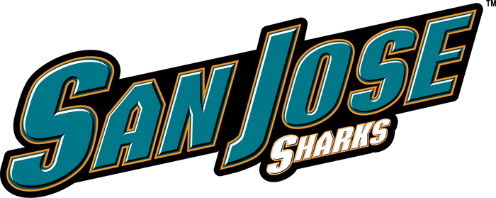 San Jose Sharks Logo Wordmark Logo (2007/08-2019/20) - 'San Jose' in teal above 'Sharks' in white SportsLogos.Net