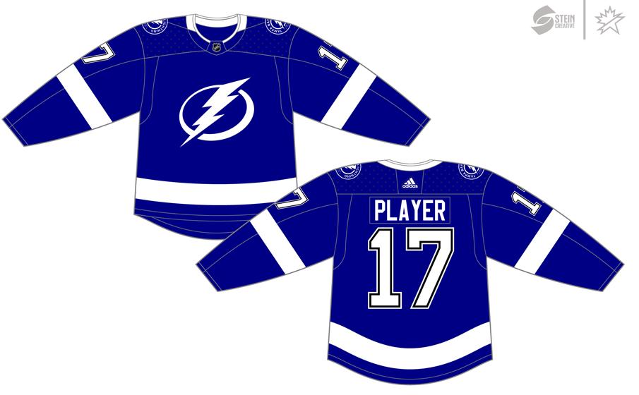 Tampa Bay Lightning Uniform Dark Uniform (2017/18-Pres) - Adidas Jersey SportsLogos.Net