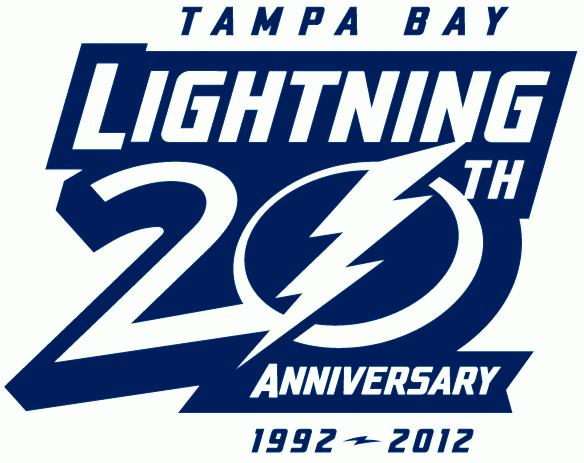 Tampa Bay Lightning Logo Anniversary Logo (2012/13) - Tampa Bay Lightning 20th Anniversary logo SportsLogos.Net