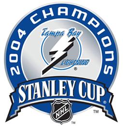 Tampa Bay Lightning Logo Champion Logo (2003/04) - 2004 Stanley Cup Champions logo SportsLogos.Net