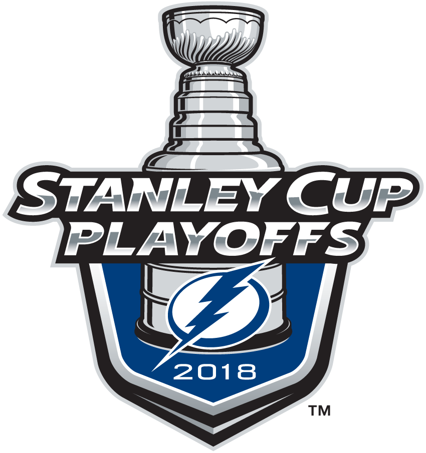 Tampa Bay Lightning Logo Event Logo (2017/18) - Tampa Bay Lightning 2018 Stanley Cup Playoffs Logo SportsLogos.Net