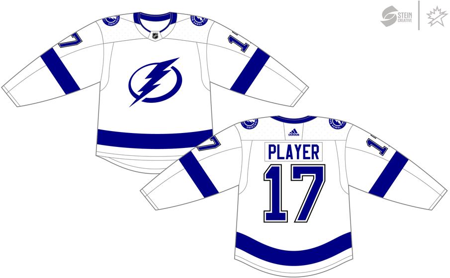 Tampa Bay Lightning Uniform Light Uniform (2017/18-Pres) - Adidas Jersey SportsLogos.Net