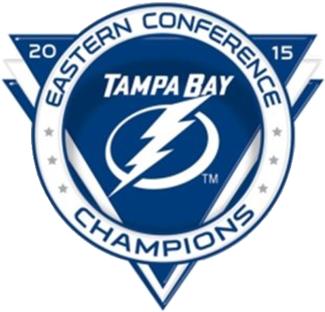 Tampa Bay Lightning Logo Champion Logo (2014/15) - 2015 Eastern Conference Champions logo SportsLogos.Net