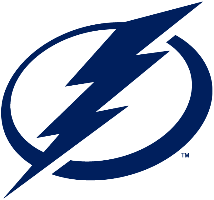 Tampa Bay Lightning Logo Primary Logo (2011/12-Pres) - A blue lightning bolt on a blue and white circle SportsLogos.Net