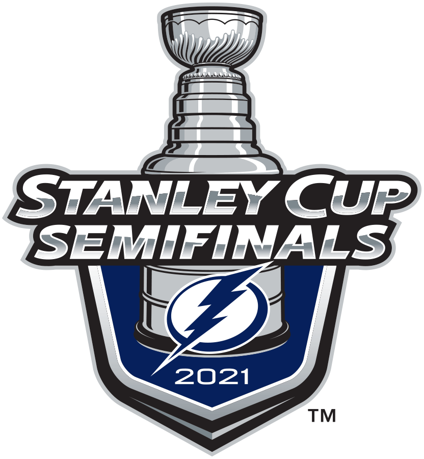 Tampa Bay Lightning Logo Event Logo (2020/21) - The Tampa Bay Lightning 2021 Stanley Cup Semi Finals logo, commemorating the Bolts advancement to the third round of the 2021 Stanley Cup Playoffs. Typically this would have been a berth in the Conference Finals but there were no conferences this season due to COVID-19 divisional realignment within the NHL. SportsLogos.Net