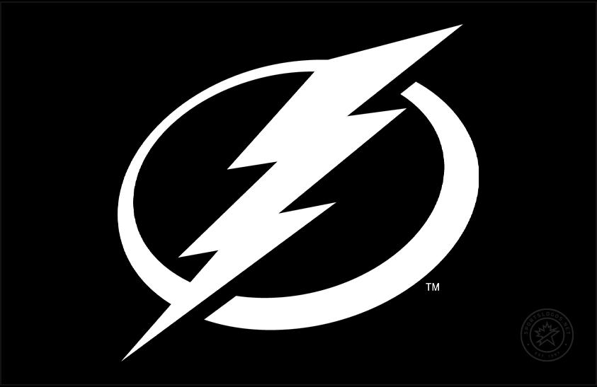 Tampa Bay Lightning Logo Primary Dark Logo (2011/12-Pres) - Tampa Bay Lightning primary logo on black SportsLogos.Net