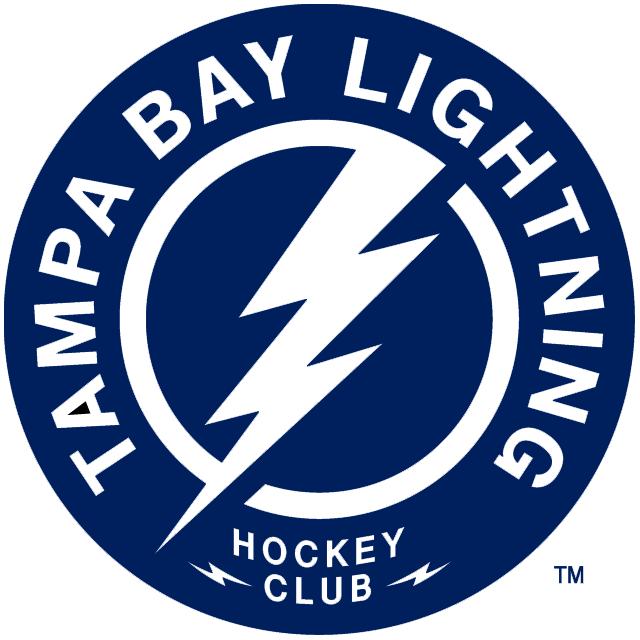 Tampa Bay Lightning Logo Alternate Logo (2011/12-Pres) - A blue circle with white lightning bolt inside a blue circle with Tampa Bay Lightning Hockey Club in white SportsLogos.Net