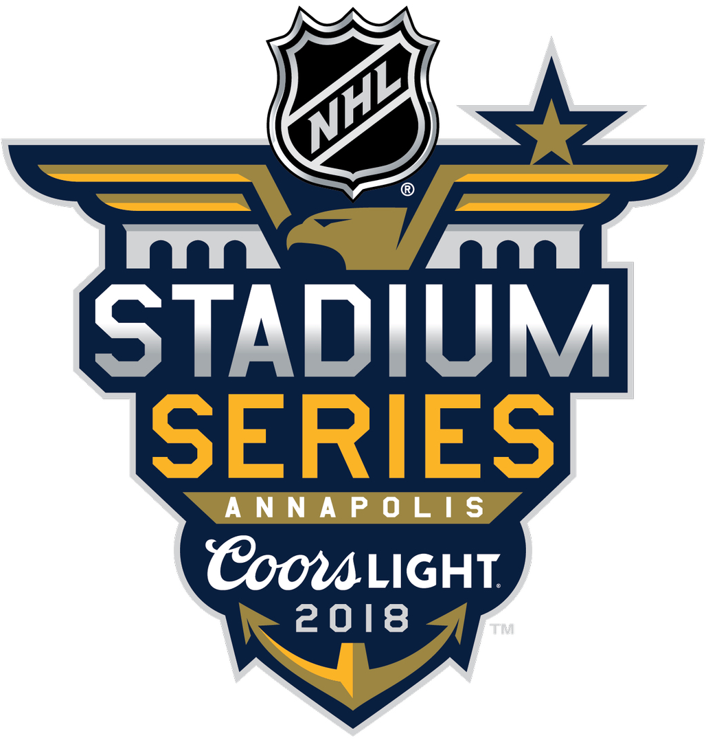 NHL Stadium Series Logo Primary Logo (2017/18) - The Stadium Series will be held on March 3, 2018 at Navy–Marine Corps Memorial Stadium in Annapolis, Maryland, featuring two of last seasons playoff teams, the Toronto Maple Leafs and the Washington Capitals SportsLogos.Net