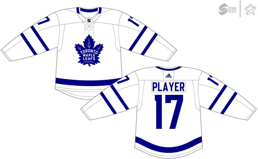 Toronto Maple Leafs Uniform Light Uniform (2017/18-Pres) - Adidas Jersey SportsLogos.Net