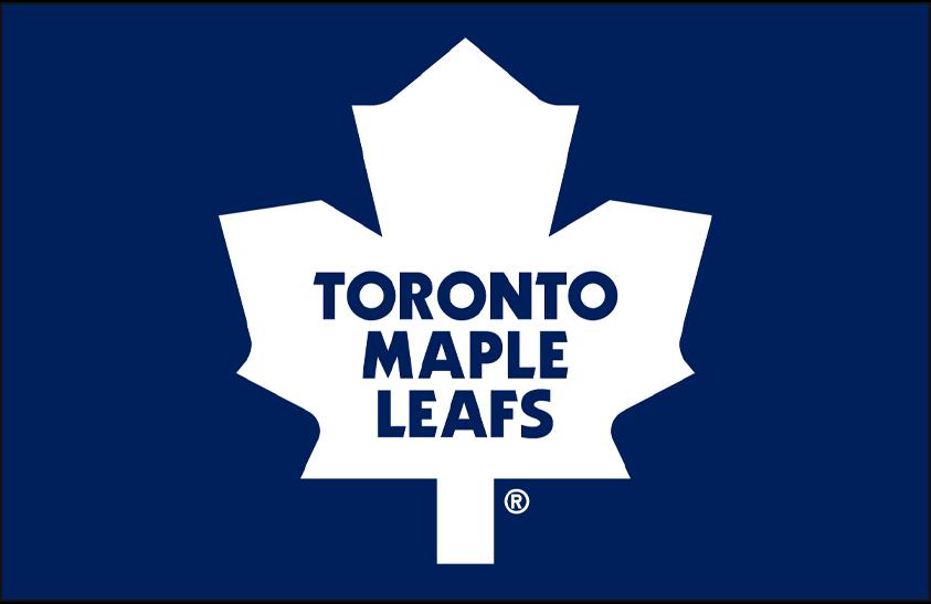 Toronto Maple Leafs Logo Primary Dark Logo (1987/88-2015/16) - Toronto Maple Leafs primary logo on blue SportsLogos.Net