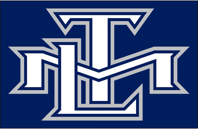 Toronto Maple Leafs Logo Alt on Dark Logo (2000/01-2006/07) - An intertwined TML in white, blue, and silver SportsLogos.Net