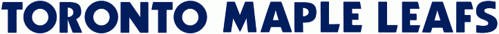 Toronto Maple Leafs Logo Wordmark Logo (1987/88-2015/16) - Team name in bold blue capitals SportsLogos.Net