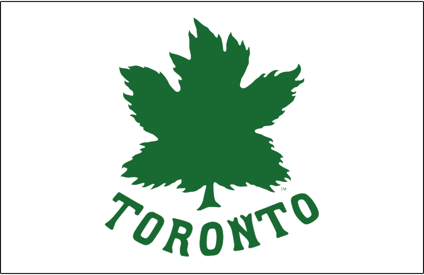 Toronto Maple Leafs Logo Jersey Logo (1926/27) - Green maple leaf on white, worn on the first Toronto Maple Leafs uniforms adopted midway through the 1926-27 season SportsLogos.Net