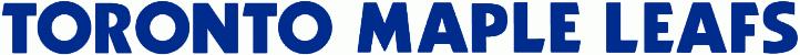 Toronto Maple Leafs Logo Wordmark Logo (1970/71-1986/87) - TORONTO MAPLE LEAFS in blue SportsLogos.Net