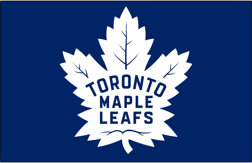 Toronto Maple Leafs Logo Jersey Logo (2016/17-Pres) - Toronto Maple Leafs logo on blue, worn on chest of home jersey since 2016-17 SportsLogos.Net