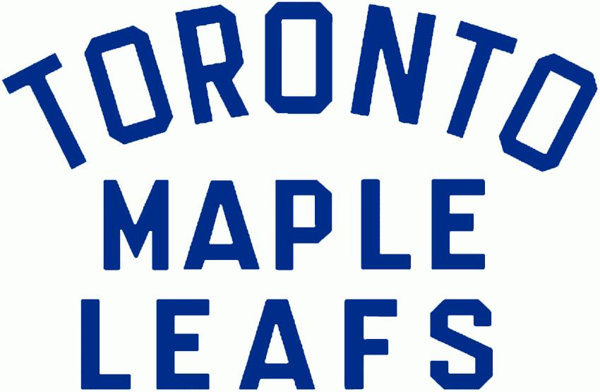 Toronto Maple Leafs Logo Wordmark Logo (1938/39-1966/67) -  SportsLogos.Net