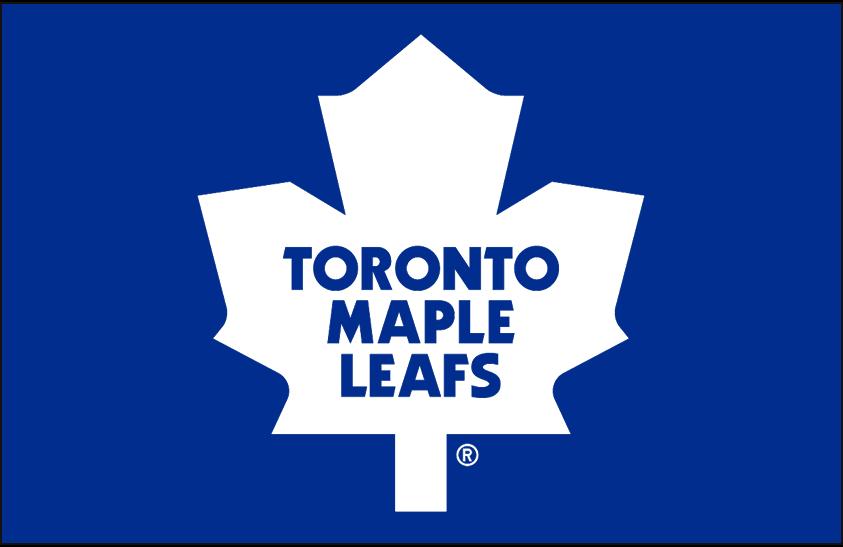 Toronto Maple Leafs Logo Primary Dark Logo (1982/83-1986/87) - Toronto Maple Leafs primary logo on blue SportsLogos.Net