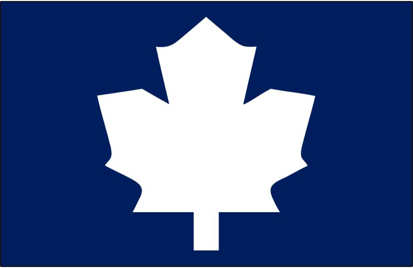 Toronto Maple Leafs Logo Alt on Dark Logo (1987/88-1991/92) - Blank white leaf on blue, worn on the shoulder of the Toronto Maple Leafs home jersey from 1987-88 through 1991-92 SportsLogos.Net