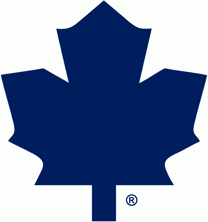 Toronto Maple Leafs Logo Alternate Logo (1987/88-1991/92) - Blank blue leaf on white, worn on the shoulder of the Toronto Maple Leafs road jersey from 1987-88 through 1991-92 SportsLogos.Net